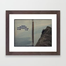 Yeti expedition Framed Art Print