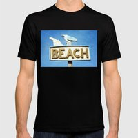 Beach Mens Fitted Tee Black SMALL