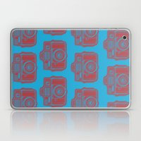 I Still Shoot Film Holga Logo - Blue & Red Laptop & iPad Skin