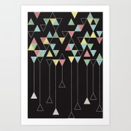Art Print featuring Dark Triangles III by Metron