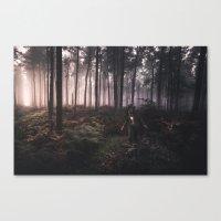 Wondering in Woods Canvas Print