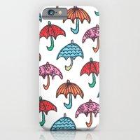 watercolour umbrella iPhone 6 Slim Case