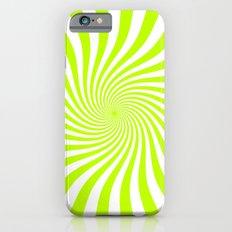 Swirl (Lime/White) iPhone 6 Slim Case