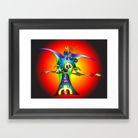 Dekari Warrior Framed Art Print
