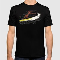 Surfer Girl Mens Fitted Tee Black SMALL