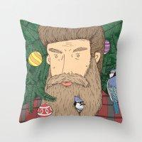Christmas Man Throw Pillow