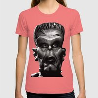 Frankenstein Womens Fitted Tee Pomegranate SMALL