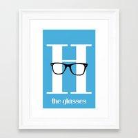 H is for Glasses - H is for Hipster Series Framed Art Print
