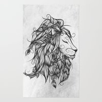 Poetic Lion B&W Rug