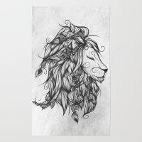 Poetic Lion B&W Rug