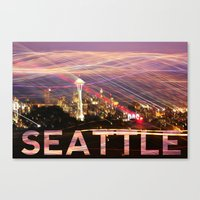 Seattle Long Exposure  Canvas Print