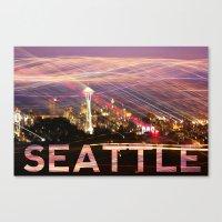 Seattle long exposure  Canvas Print