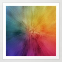 Colourburst Art Print