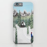 Christmas on the mountain iPhone 6 Slim Case