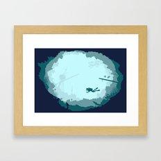 Dive Deep Framed Art Print