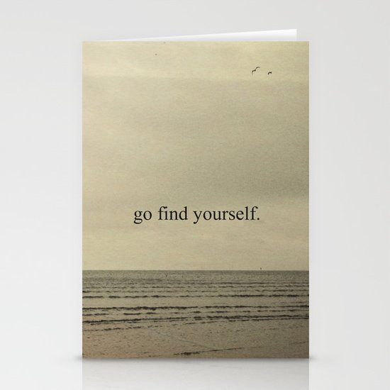 GO FIND YOURSELF Stationery Card