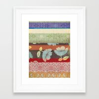Color Strips Framed Art Print