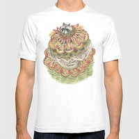 Quilted Forest: The Racc… Mens Fitted Tee White SMALL
