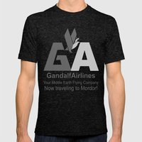 Gandalf Airlines Mens Fitted Tee Tri-Black SMALL