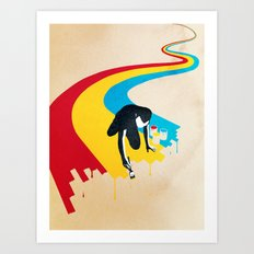 Rainbow Road Art Print