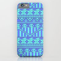 Aztec duo color blue pattern iPhone 6 Slim Case