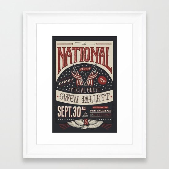 The National Framed Art Print