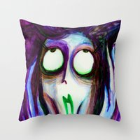 Madness Of The Queen Throw Pillow