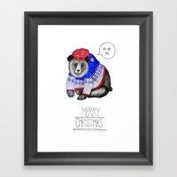 Christmas Bear Framed Art Print