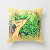 Reaching Throw Pillow