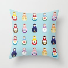 MATRYOSHKAS SERIES Throw Pillow