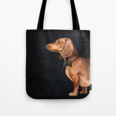 Elegant dachshund. Tote Bag