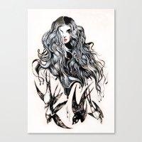 Woman & Birds  Canvas Print