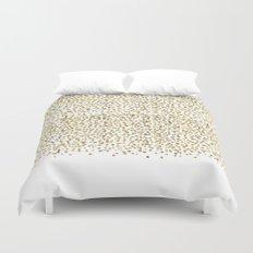 Gold Confetti Sparkle and Shine Duvet Cover