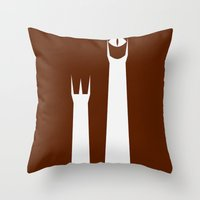 The Lord of the Rings: Two Towers Minimalist Throw Pillow