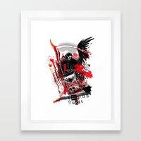 Time flies [ teMpus fuGit ] Framed Art Print