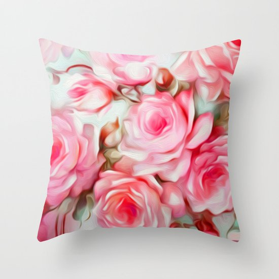 Pink Shabby Chic Throw Pillows : Shabby Chic Pink Throw Pillow by Jacqueline Maldonado Society6