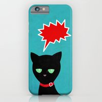 iPhone & iPod Case featuring cat -Black cat by leeem