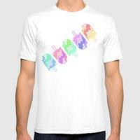 Ice Cream Melt Mens Fitted Tee White SMALL