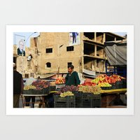 Fruit Vendor; Tripoli, Lebanon. Art Print