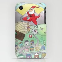iPhone 3Gs & iPhone 3G Cases featuring Christmas Delivery by Pig & Pumpkin
