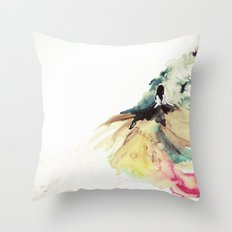 Rainbow dress Throw Pillow