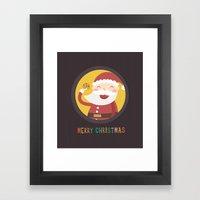 Day 24/25 Advent - Santa… Framed Art Print