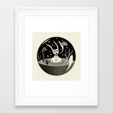 Water Orb with Rabbit Framed Art Print