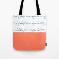 Alphabet-Coral  Tote Bag