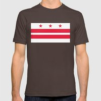 Washington D.C Flag, authentic version Mens Fitted Tee Brown SMALL