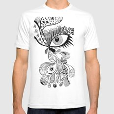 eye believed you White SMALL Mens Fitted Tee