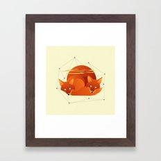 Fiery Fox Framed Art Print