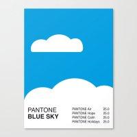 Pantone BLUE SKY Canvas Print