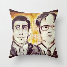 Michael & Dwight Throw Pillow