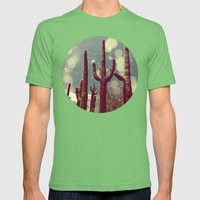 Space Cactus Mens Fitted Tee Grass SMALL